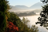Kilchurn Castle in a misty October